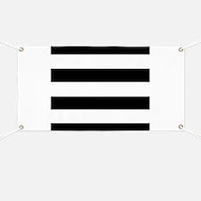 modern black white stripes Banner
