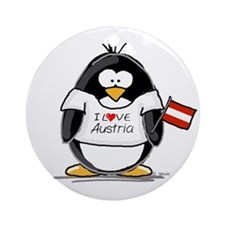Austria Penguin Ornament (Round)