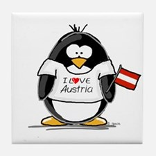 Austria Penguin Tile Coaster
