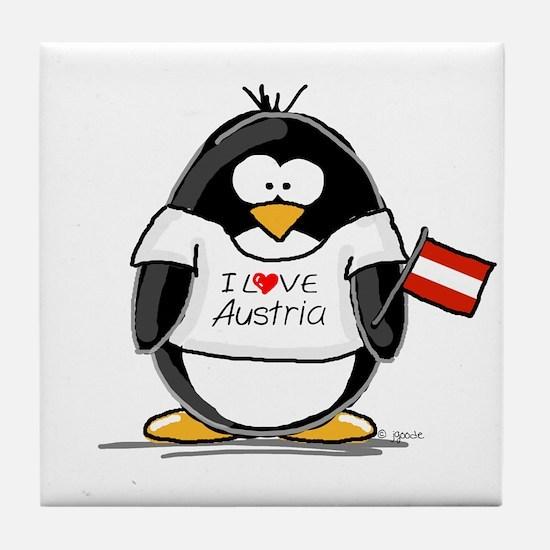 Austria Penguin Tile Coaster