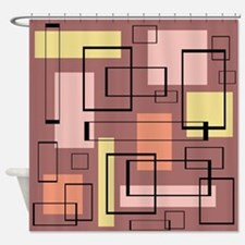 Retro Mid-Century Shower Curtain