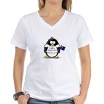 Australia Penguin Women's V-Neck T-Shirt