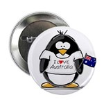 Australia Penguin Button