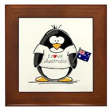 Australia Penguin Framed Tile