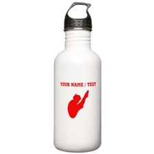 Red Diver Silhouette (Custom) Water Bottle