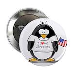 America Penguin Button
