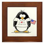 America Penguin Framed Tile
