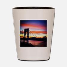 NYC Sunset - George Washington Bridge Shot Glass