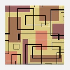 Retro Mid-Century Tile Coaster