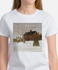 Colonial House in Winter T-Shirt