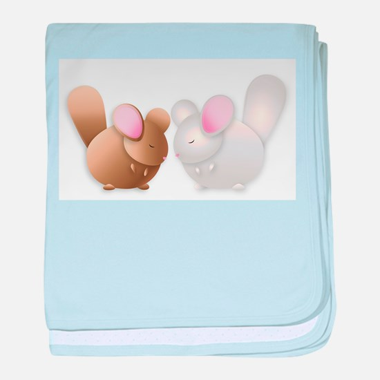 Cute Chinchillas baby blanket