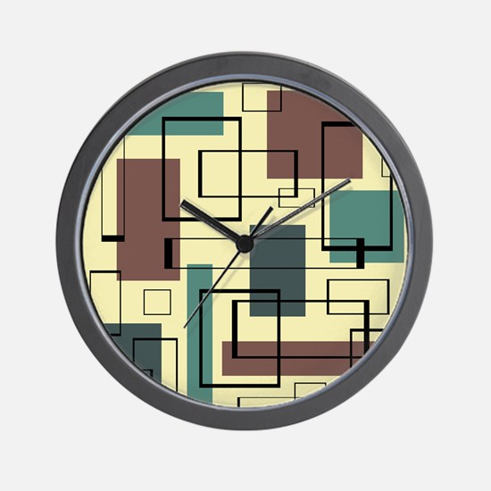 Retro Mid-Century Wall Clock