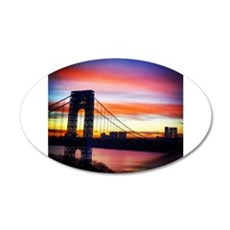 NYC Sunset - George Washington Bridge Wall Decal
