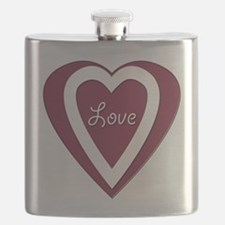 Personalized Heart Love Flask