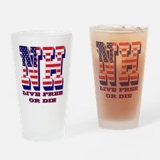New Hampshire NH Live Free Or Di Drinking Glass