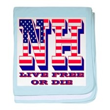New Hampshire NH Live Free Or Di baby blanket