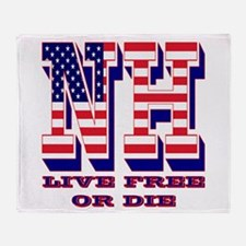 New Hampshire NH Live Free Or Di Throw Blanket