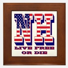 New Hampshire NH Live Free Or Di Framed Tile