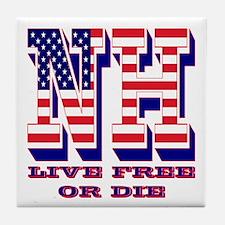 New Hampshire NH Live Free Or Di Tile Coaster