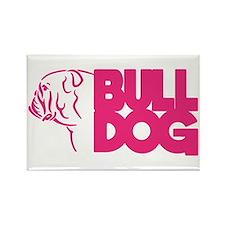 Bulldog Rectangle Magnet Magnets