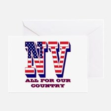 Nevada NV All For Our Country Greeting Card