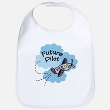 Future Pilot Airplane Cute Boy Baby/Toddler Bib