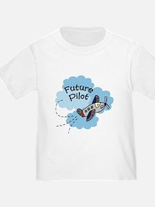 Future Pilot Airplane Cute Boy Baby/Toddler Tee