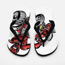 Red ATV Quad Guy Flip Flops