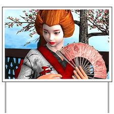 Geisha Yard Sign