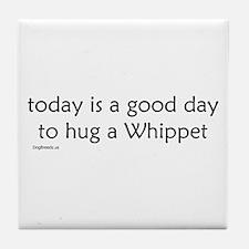 Hug a Whippet Tile Coaster