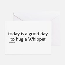 Hug a Whippet Greeting Cards (Pk of 10)