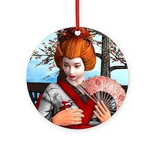 Geisha Ornament (Round)