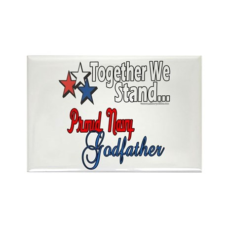 Navy Godfather Rectangle Magnet (100 pack)