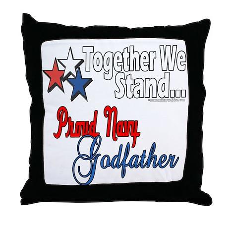 Navy Godfather Throw Pillow