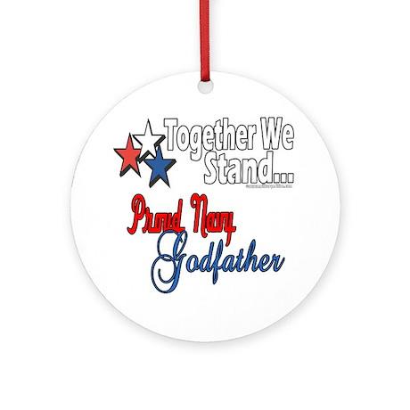 Navy Godfather Ornament (Round)