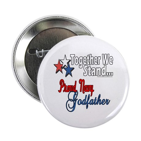 """Navy Godfather 2.25"""" Button (100 pack)"""