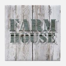 barn wood farmhouse Tile Coaster
