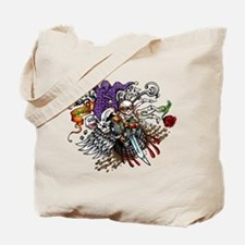 Quad Skully joker Tote Bag