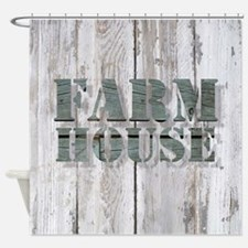 barn wood farmhouse Shower Curtain