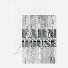 barn wood farmhouse Greeting Cards