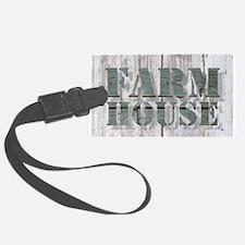 barn wood farmhouse Luggage Tag