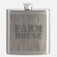 barn wood farmhouse Flask