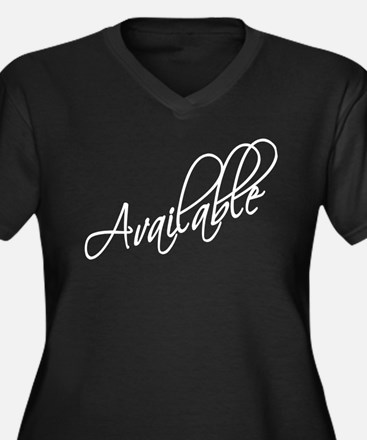 Available Women's Plus Size V-Neck Dark T-Shirt