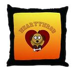Heartthrob - Valentine's Puppy Love Throw Pillow
