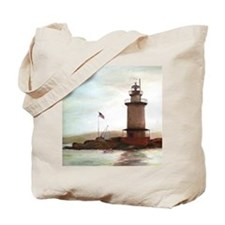Tarrytown Lighthouse Painting Tote Bag