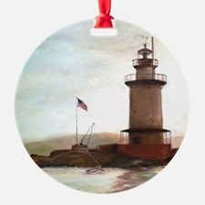 Tarrytown Lighthouse Painting Ornament
