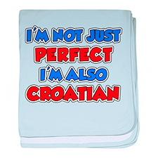 Not Just Perfect Croatian baby blanket