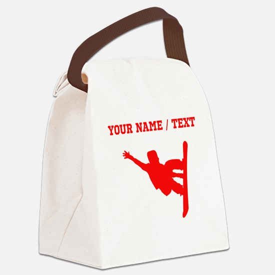 Red Snowboarder (Custom) Canvas Lunch Bag