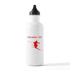 Red Skier (Custom) Water Bottle