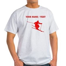Red Skier (Custom) T-Shirt